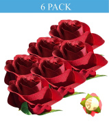 Peel and Stick Flat Back Roses for Grad Cap Decoration - Assorted Colours - Flowers, Floral Stickers, Adhesive Backed Roses