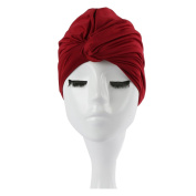 Eforstore Women Comfortable Pure Colour Oversized Swimming Cap Bathing Cap For Long Hair