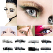 Hot ! 0.4mm Magnetic False Eyelashes Iusun 3D Reusable Magnet Eye Lashes Extension