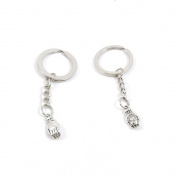 10 Pieces Keychain Keyring Door Car Key Chain Ring Tag Charms Supply J0JR3A Buddha Palm