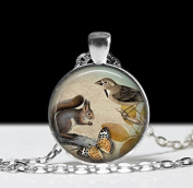 Squirrel Necklace, Squirrel Pendant , Art Jewellery Animal Necklace