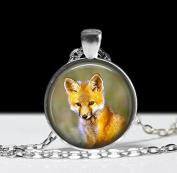 Fox Necklace Fox Pendant, Art Jewellery Animal Necklace