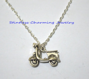 Motorcycle Necklace, Motorcycle Jewellery, Charm Necklace, Motorcycle Pendant, Silver Jewellery
