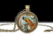 Peacock Bird Jewellery ,Bird Pendant, Art Bird Pendant Charm Peacock Necklace