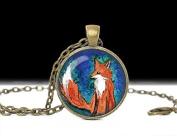 Fox Necklace Fox Pendant , Art Jewellery Animal Necklace