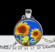 Sunfllower Jewellery ,Sunflower Pendant , Rose Pendant, Charm Sunflower