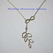 Infinity and branch silver necklace Infinity jewellery necklaces