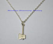 3.Ax necklace, Axe jewellery, Military jewellery, Gift for him, mens jewellery, Hunter necklace Silver Plated Axe Charm on a Silver Cable Chain