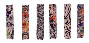 Simplicity 6 Pcs Outdoor Stretch Cool Temporary Fake Slip on Tattoo Arm Sleeves