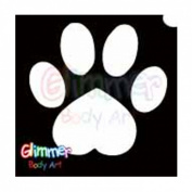 Glimmer Body Art Glitter Tattoo Stencils - Paw