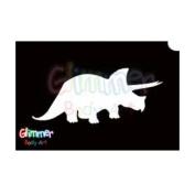 Glimmer Body Art Glitter Tattoo Stencil Triceratops 5/pack