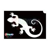Glimmer Body Art Glitter Tattoo Stencils - Gecko