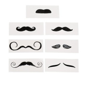 Life-size Moustache Tattoo Assortment 12ct