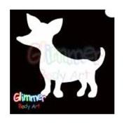 Glimmer Body Art Glitter Tattoo Stencils - Chihuahua 5/pk