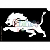 Glimmer Body Art Glitter Tattoo Stencil - Lion Head 5/pack