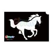 Glimmer Body Art Glitter Tattoo Stencils - Horse