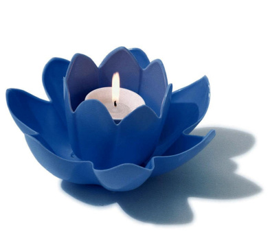 19cm HydroTools Swimming Pool or Spa Blue Floating Flower Candle Light