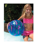 50cm Water Sports Inflatable Blue Printed Beach Ball Swimming Pool Toy