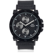 Territory Men's Faux Leather Band Fashion Watch