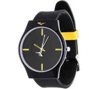 Everlast Analogue Monochrome Sports Watch, Black Silicone Strap