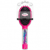 Gimme Style Storage Brush with Plastic Elastics, Hot Pink