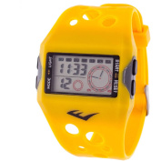 Everlast Digital Sports Watch, Yellow Silicone Strap