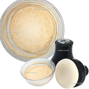 beauties factory make up smooth glitter body powder with puff - nude