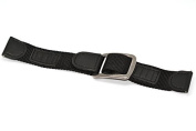 20MM BLACK LEATHER NYLON WATERPROOF SPORT DIVER WATCH BAND STRAP FITS SWISS ARMY