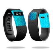Skin Decal Wrap for Fitbit Charge cover sticker skins Blue Vintage