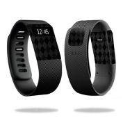 Skin Decal Wrap for Fitbit Charge cover sticker skins Black Argyle