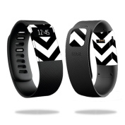 Skin Decal Wrap for Fitbit Charge cover sticker skins Black Chevron