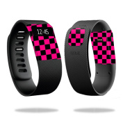 Skin Decal Wrap for Fitbit Charge cover sticker skins Pink Cheque