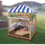 Badger Basket Beach Bum Covered Cabana Sandbox and Playhouse