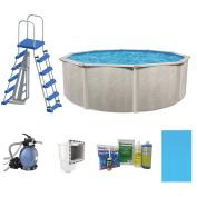 Cornelius Pools Phoenix 6.4m x 130cm Frame Above Ground Pool Kit with Pump & Ladder