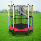 Zimtown 140cm Round Trampoline Kids Youth Mini Trampoline with Safety Enclosure Net Pad Rebounder Outdoor Exercise
