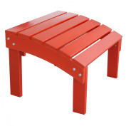 AmeriHome Solid Wood Adirondack Footrest Ottoman with Painted Finish - Red