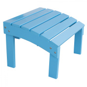 AmeriHome Solid Wood Adirondack Footrest Ottoman with Painted Finish -Aruba Blue