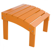 AmeriHome Solid Wood Adirondack Footrest Ottoman with Painted Finish - Tangerine