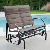 Coral Coast Del Rey Padded Sling Outdoor Glider Loveseat