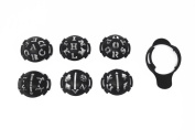 Honbay 6 in 1 Golf Ball Liner Line Marker Template Drawing Mark Alignment To