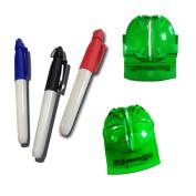 Finger Ten 2017 New Golf Ball Marker Line Drawing Tool 3 Colour Pens Template Liner Putt Alignment
