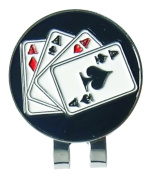 C-Pioneer Playing Cards Golf Hat Clip Golf Ball Marker