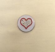 Evergolf Crystal Red Heart Golf Ball Marker - 13767
