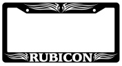 Rubicon Tribal 1 Black Plastic Licence Plate Frame