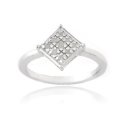 Sterling Silver 1/10ct Diamond Diamond-Shape Promise Ring