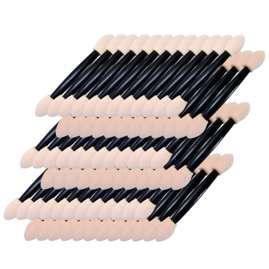 Hotsaleglobal 150 Pcs Disposable Eye Shadow Brush Dual Sided Sponge Applicator Makeup Brush