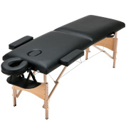 New Black Fold Portable Massage Table Facial SPA Bed w/2 Pillows+Cradle+Sheet & Hanger
