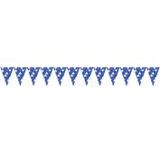 Cobalt Blue Fractal Flag Banner, each