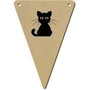 5 x 140mm 'Black Cat' Wooden Bunting Flags