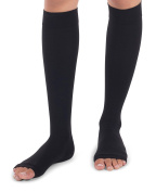 Jomi Surgical Collection 221, Medical Weight Compression Knee Highs, 20-30mmHg - Open Toe, Full Calf